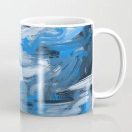 Blue & White Abstract Coffee Mug