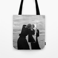mirror Tote Bags featuring Mirror by Bird Heart