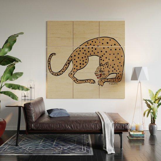 Cheetah Wood Wall Art by megangalante | Society6