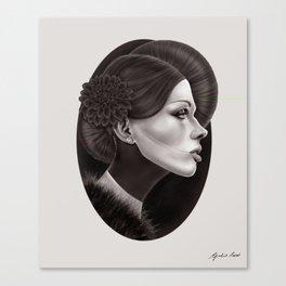 """The Black Dahlia"" Canvas Print"