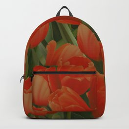 Red Tulips Field Backpack
