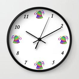 Bell Rainbow & Ribbons Wall Clock