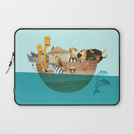 Noahs Ark with Animals– Illustration for the childrens room of girls and boys Laptop Sleeve