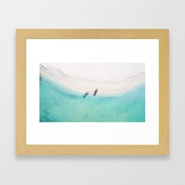 Somewhere in the Caribbean sea Framed Art Print