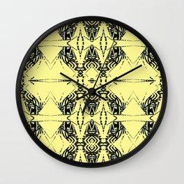yellow tribal tail Wall Clock