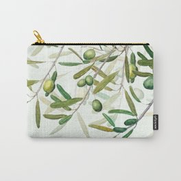 Green Olive watercolor painting Carry-All Pouch