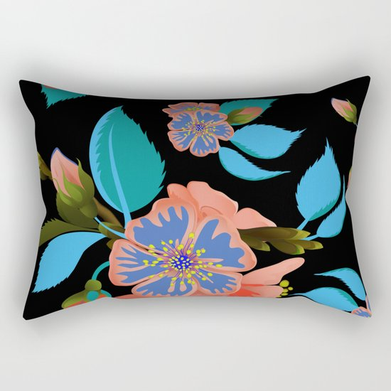 tas.color flower pattern Rectangular Pillow