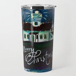 Christmas at Battery Point Lighthouse Travel Mug