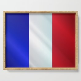 French Grunge Flag Gloss Serving Tray