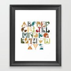 geometric alphabet v1 Framed Art Print