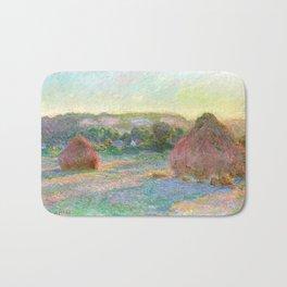 Stacks of Wheat (End of Summer) - Claude Monet Bath Mat