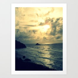 View From the Cliffs Art Print