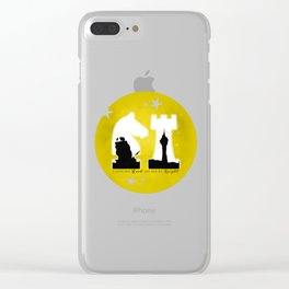 KNIGHT ROOK (Yellow) Clear iPhone Case