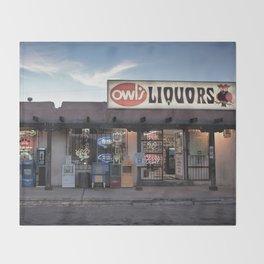 Liquor Store Santa Fe Throw Blanket