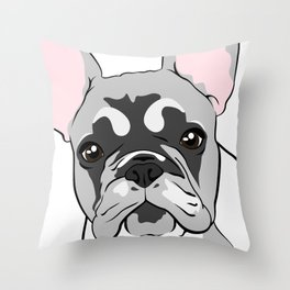 Jersey the French Bulldog Throw Pillow