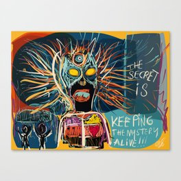 Keeping the mystery alive Canvas Print