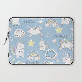 I'm a Unicorn - blue Laptop Sleeve
