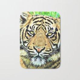 Tiger head digital art Bath Mat