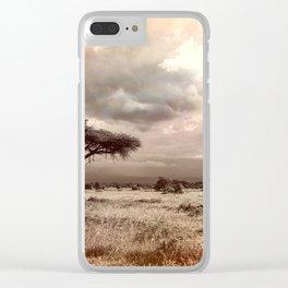 African Savannah Clear iPhone Case