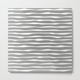 Silver White Neutral Duo Metal Print