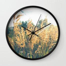 Golden Hour Hangout Wall Clock