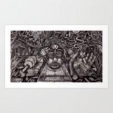 Raw Data (Still Frame 2) Art Print