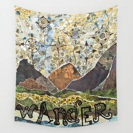 Compass Rose Garden Wall Tapestry