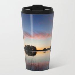 Beautiful clouds and lake landscape after sunset finland Travel Mug