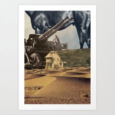 House In Desert Art Print