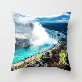 Niagara Falls from Above Throw Pillow