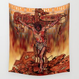 Material Jesus Wall Tapestry