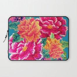 Oriental Peony Embroidery Laptop Sleeve