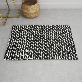 Hand Knitted Black S Rug