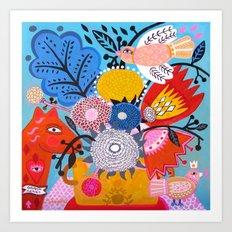 Corazon Magico Art Print