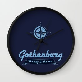 Gothenburg - The city & the sea Wall Clock