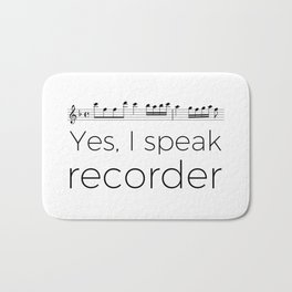 I speak recorder Bath Mat