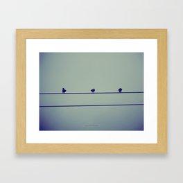 T H R E E SOME Framed Art Print