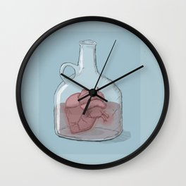 happy valentine's day...i'll be fine. Wall Clock