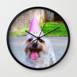 cute puppy  - photo by Delaney Dawson Wall Clock