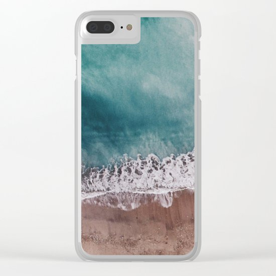 Ocean II (drone photography) Clear iPhone Case