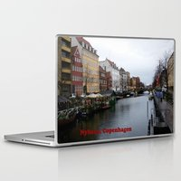 copenhagen Laptop & iPad Skins featuring Nyhavn, Copenhagen  by Created by Eleni