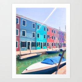Burano Italian Colorful Homes Art Print