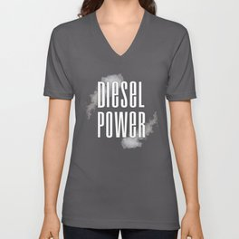 Diesel Power Smoke Roll Coal Roll Coal Trucker 4X4 Unisex V-Neck