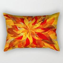 Blazing Infused Nightfall Flower Rectangular Pillow