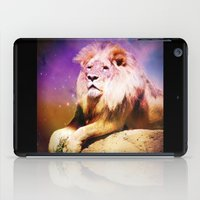 the lion king iPad Cases featuring King Lion by SwanniePhotoArt