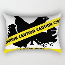 Police Hens Silhouette Rectangular Pillow