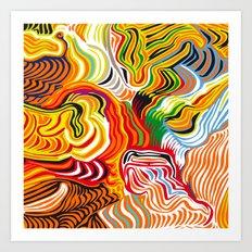 colored flow Art Print