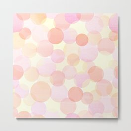 Pink and coral-red dots overprint pattern Metal Print