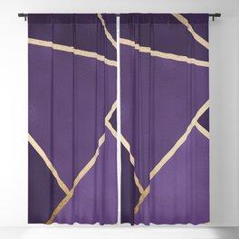Beautiful Amethyst Gold Geometry Art Blackout Curtain