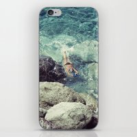 swimming iPhone & iPod Skins featuring SWIMMING by Marte Stromme